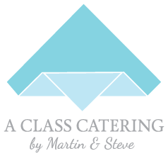 A Class Catering by Martin & Steve Logo