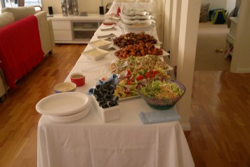 indoor buffet catered