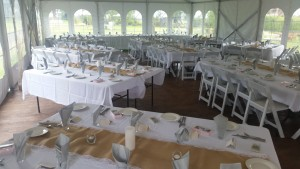 Set Up for wedding at Terara riverside gardens at Nowra