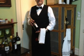 Martin with wine